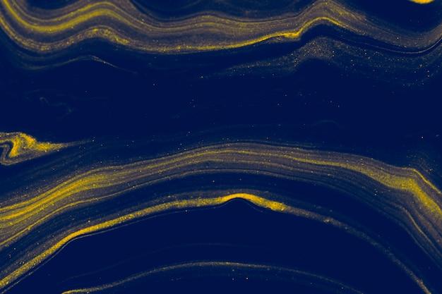 Blauwe vloeibare kunst marmering verf getextureerde achtergrond