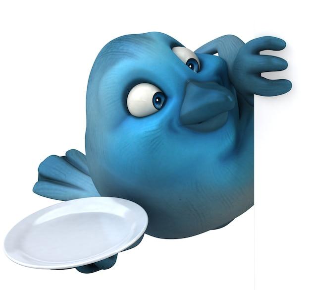 Blauwe vogel illustratie