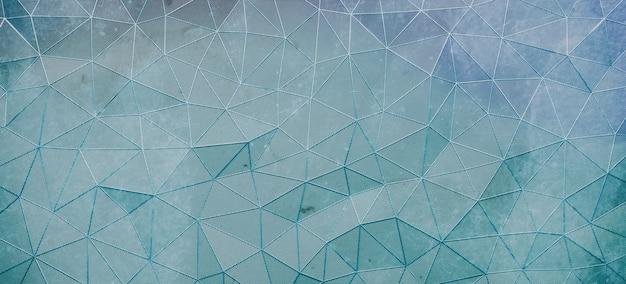 Blauwe voronoi-diagramachtergrond, 3d geef terug
