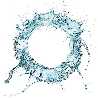 Blauwe waterplons geïsoleerd
