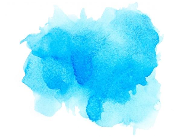 Blauwe waterverf.