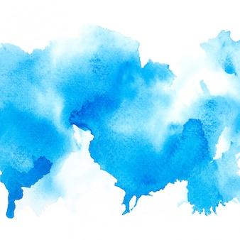 Blauwe waterverf