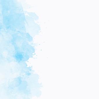 Blauwe waterverftextuur met copyspace aan het recht