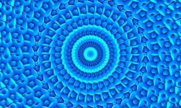 Blauwe witte veelhoekige mozaïekachtergrond, caleidoscoopbehang. creatieve zakelijke ontwerpsjablonen