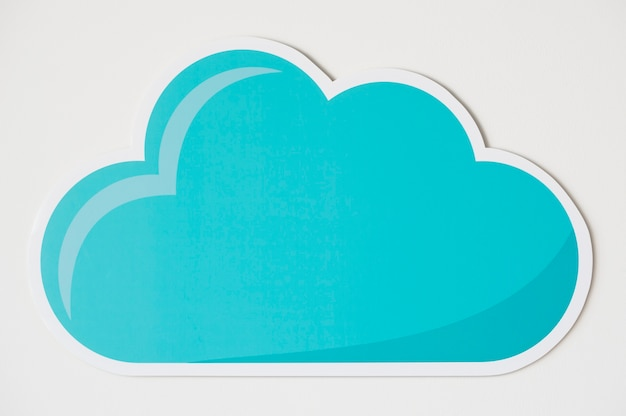 Blauwe wolk technologie symboolpictogram