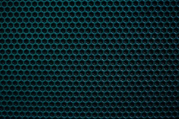 Blauwe zeshoekige patroonachtergrond met zwarte schaduw.