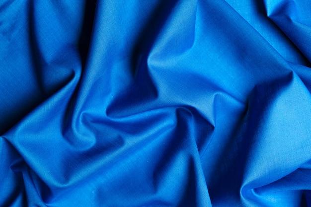 Blauwe zijde stof achtergrond