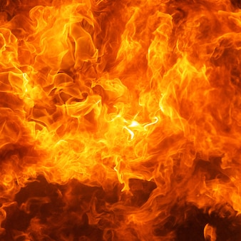 Blaze brand vlam vuurzee textuur achtergrond in vierkante verhouding