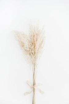 Bleek droog takboeket met beige strik