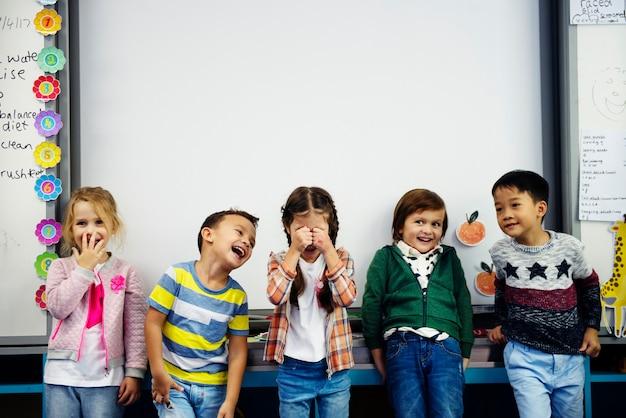 Blije kinderen op de basisschool