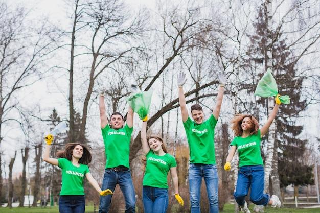 Blije vrijwilligers