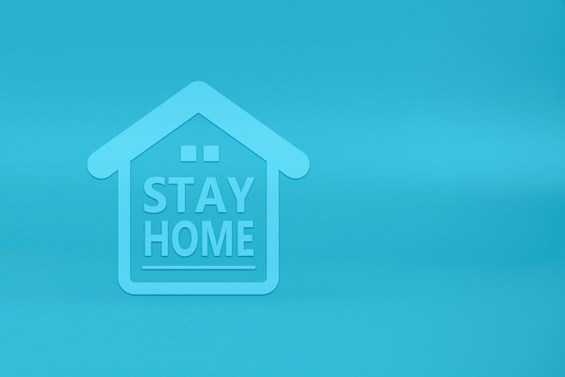 Blijf thuis blijf veilige pictogrammen op houten speelgoedblok. concepten voor gezondheid en medische preventie van coronavirus of covid-19-infectie.