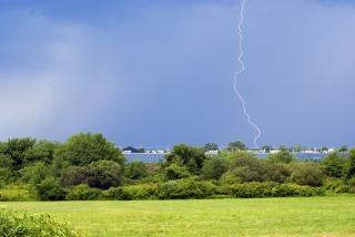 Blikseminslag stormen