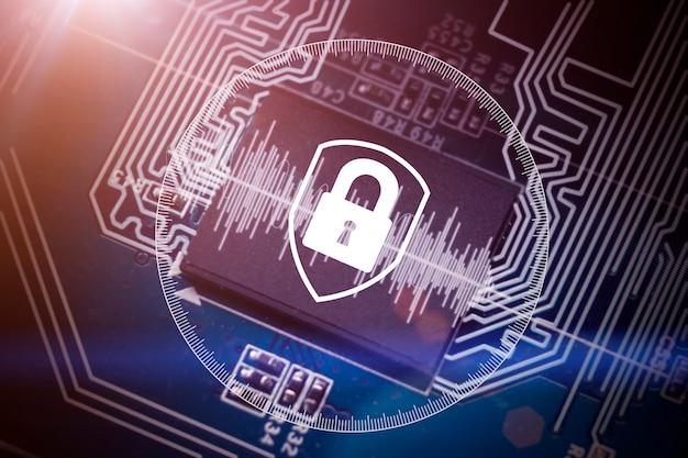 Blockchain en classificatie van gegevens dat helpt om transparanter en waardevoller te zijn. technologie die een veiligheids- en betrouwbaarheidsconcept biedt. hangslotpictogram en internettechnologienetwerken.
