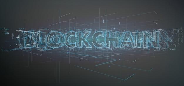 Blockchain-titel geïsoleerd