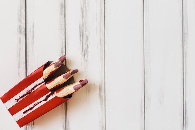 Bloedige gesneden vingers