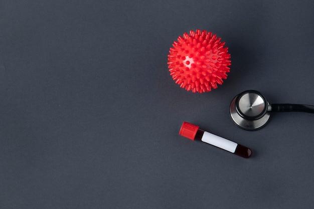 Bloedmonster door een stethoscoop