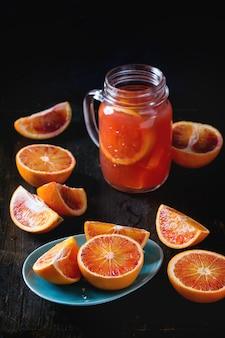 Bloedsinaasappels met sap