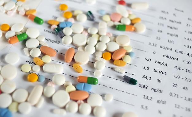 Bloedtestresultaat en pillen