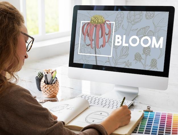 Bloeiende bloemsierkunst en ambachten natuur