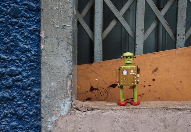 Bloem robot milieu leuk concept