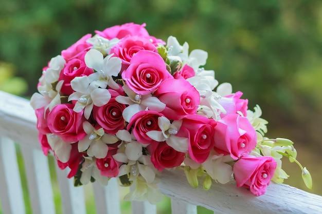 Bloemen bruidsboeket bruid