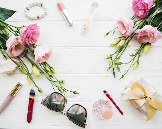 Bloemen en cosmetica