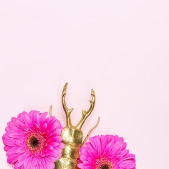 Bloemen en kever