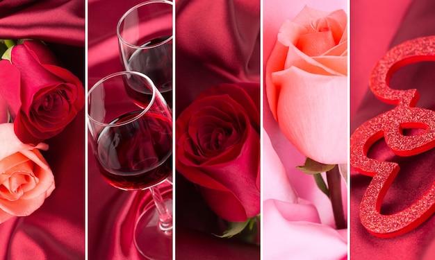 Bloemen en wijn