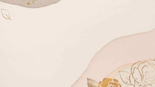 Bloemen gouden textuur abstracte achtergrond