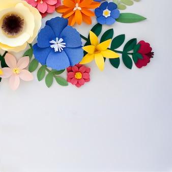 Bloemen handgemaakt ontwerp papercraft art