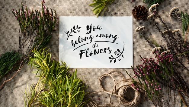 Bloemen handwerk workshop
