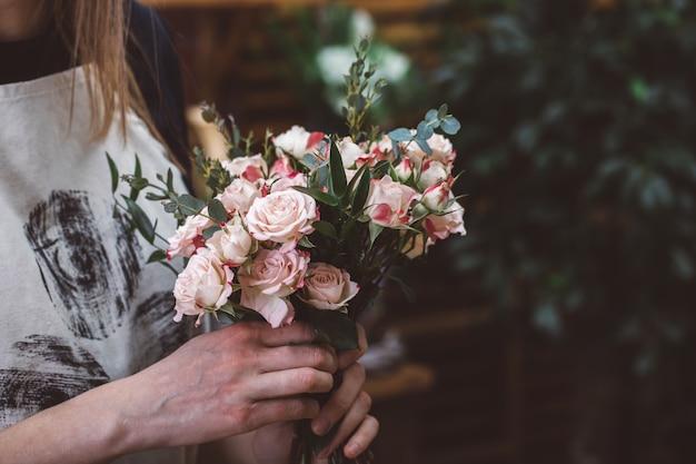 Bloemen levering concept