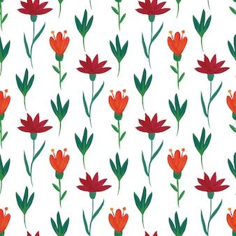 Bloemen naadloos patroon.