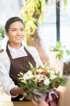 Bloemen voor klant