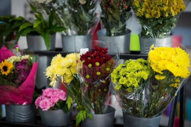 Bloemenboeket in bloemistwinkel