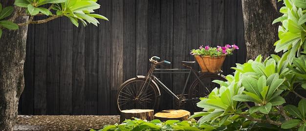 Bloemenkoets door de muur