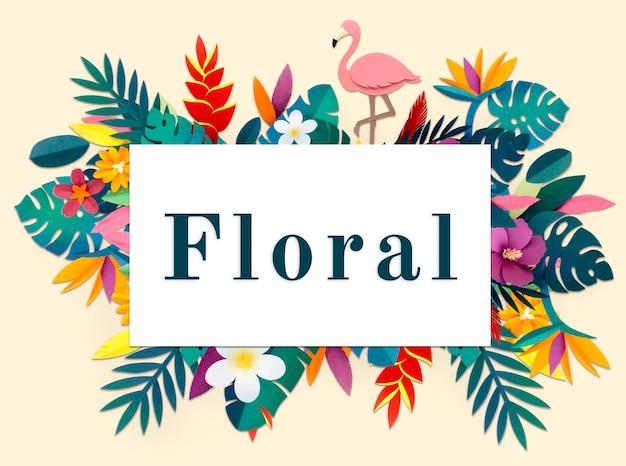 Bloesem bloemen natuurlijk plat ontwerp