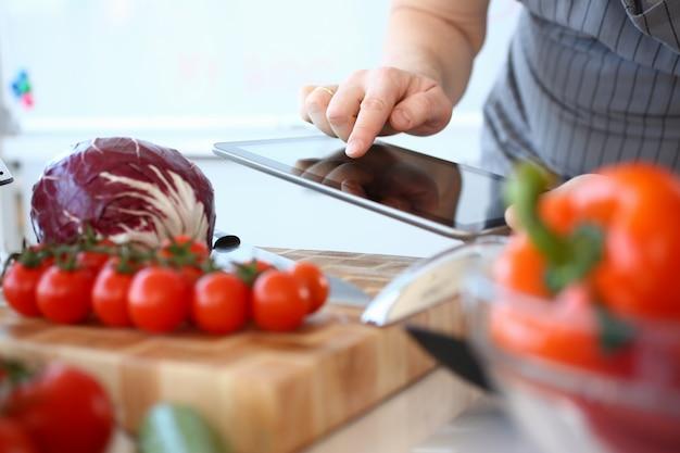 Blogger-opname groenteningrediëntenrecept