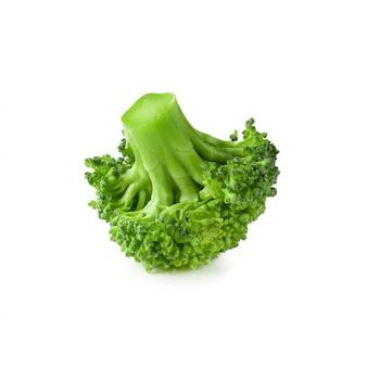 Blok kerry of broccoli gezonde verse groente voor koken geïsoleerd op wit