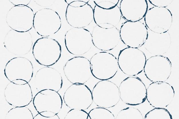 Blokafdrukken met blauwe cirkelpatroon als achtergrond