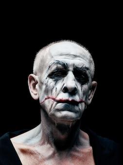 Bloody halloween-thema: gek maniak-gezicht