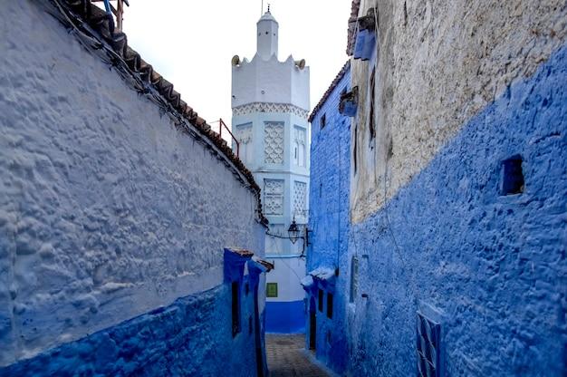 Blue city chefchaouen. marokko, afrika