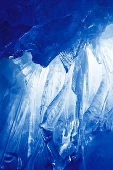 Blue ice grot