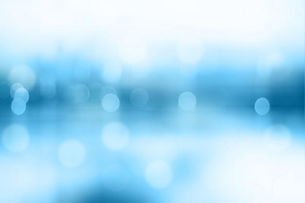 Blue wazig bokeh abstract