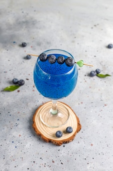 Blueberry basilicum zaad drankje.