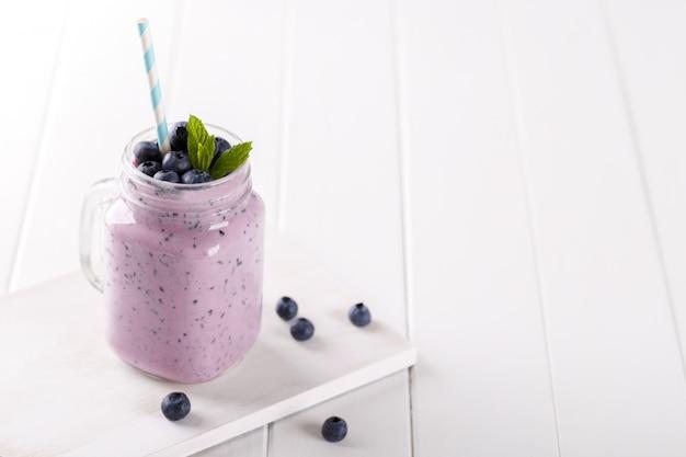 Blueberry en bananensmoothie