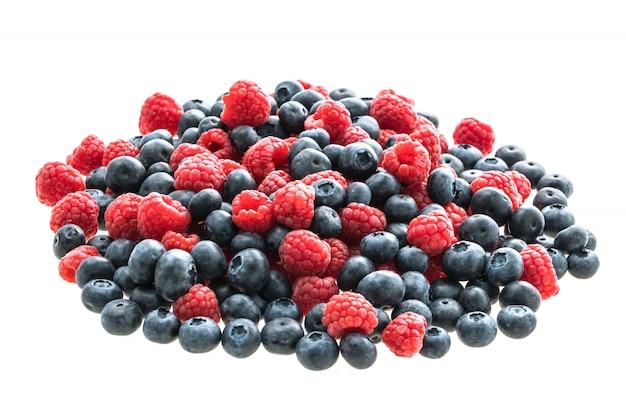 Blueberry en rasberry fruit