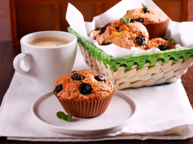 Blueberry maïsmeel cake