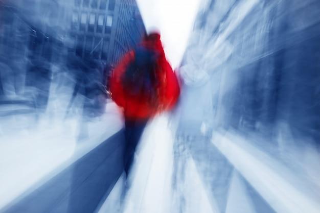Blur persoon lopen